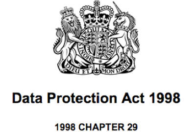 Data protection act 1998 and children