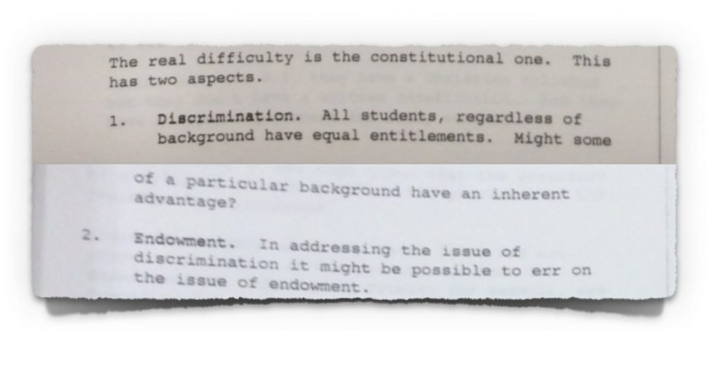 Extract 1 from minutes of NCCA Course Committee meeting with DoE from 30th January 1995
