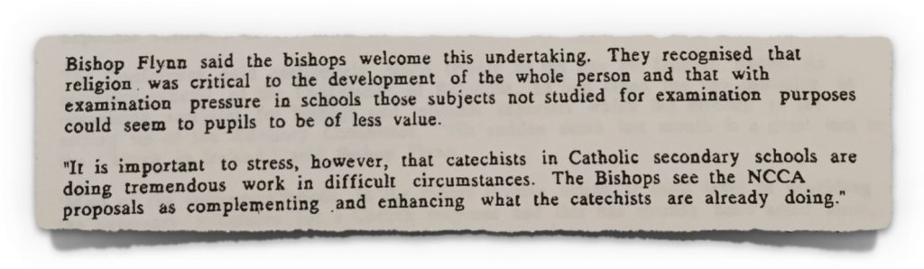 Statement from Irish Bishops Conference 13th March 1996