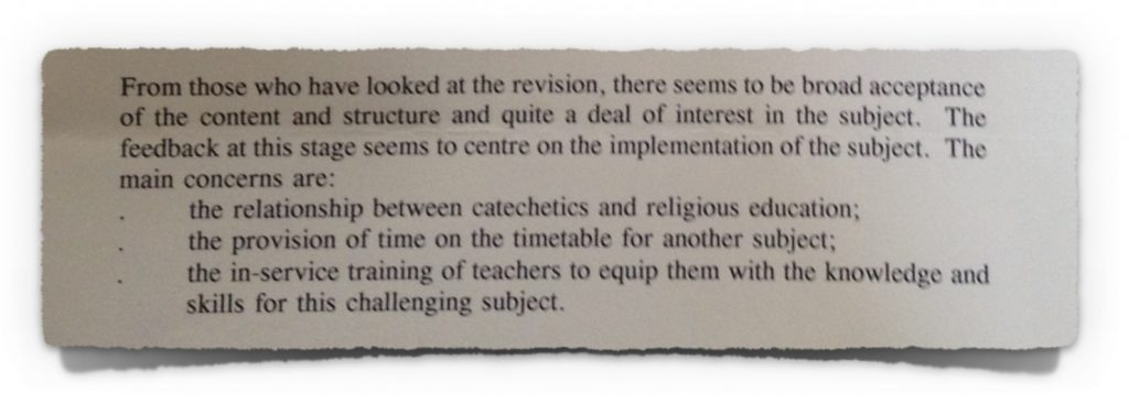 Letter from Fr Donal O'Neill to NCCA from 4th November 1997