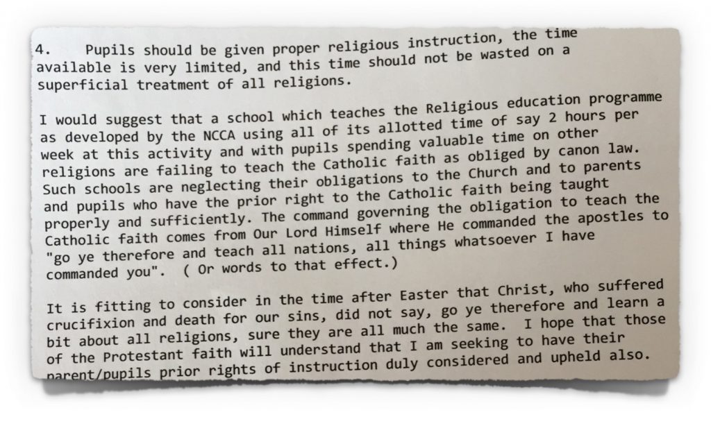 Hegarty comments on other religions from 20th April 2009