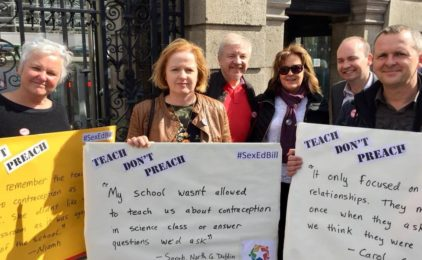 Atheist Ireland delighted at passing of Solidarity's Objective Sex Education Bill