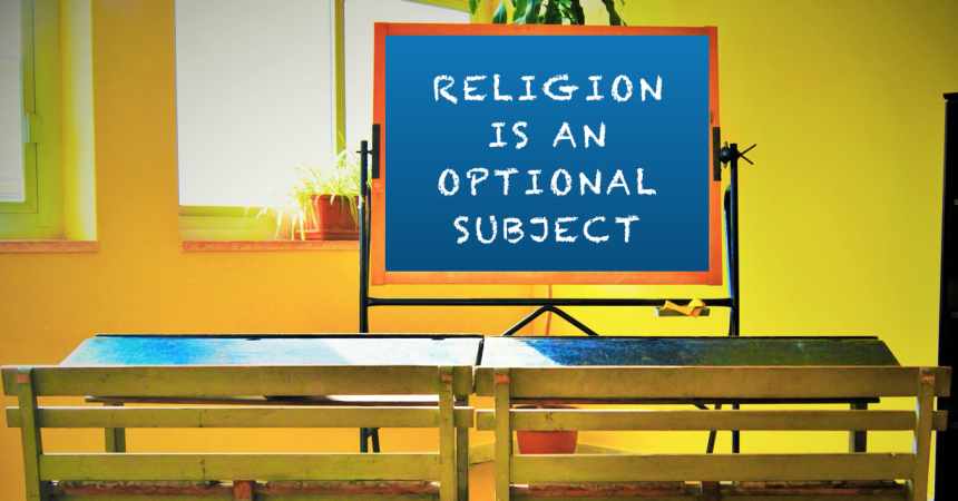You do not have to attend religious education, however the school describes it