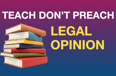 Legal opinion on the Constitutional right to not attend religious instruction