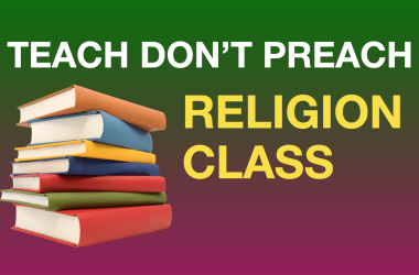 Teaching more than one religion can be indoctrination, and you have a right to not attend the NCCA religion class