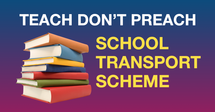 Atheist Ireland and parents are challenging discriminatory Second Level School Transport Scheme